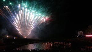 白浜海女祭りと花火